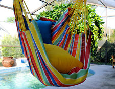 tropical joy   fine cotton hammock chair made in brazil authentic brazilian hammock large hanging rope chair swing hand      rh   ebay