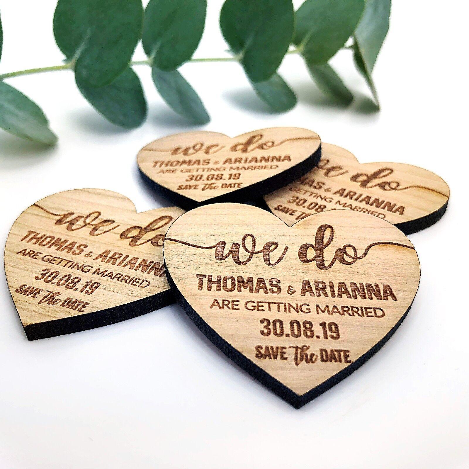 Mariage Save the the the Date personnalisé en bois AiFemmets Réfrigérateur rustique invitation cœur | Matériaux Soigneusement Sélectionnés  dfa68e