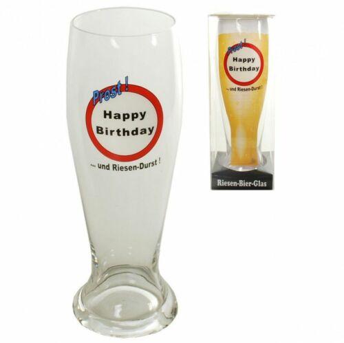 Riesen Bierglas zum Geburtstag Bierglas Bierhumpen Weizenglas Geschenk 1,5l