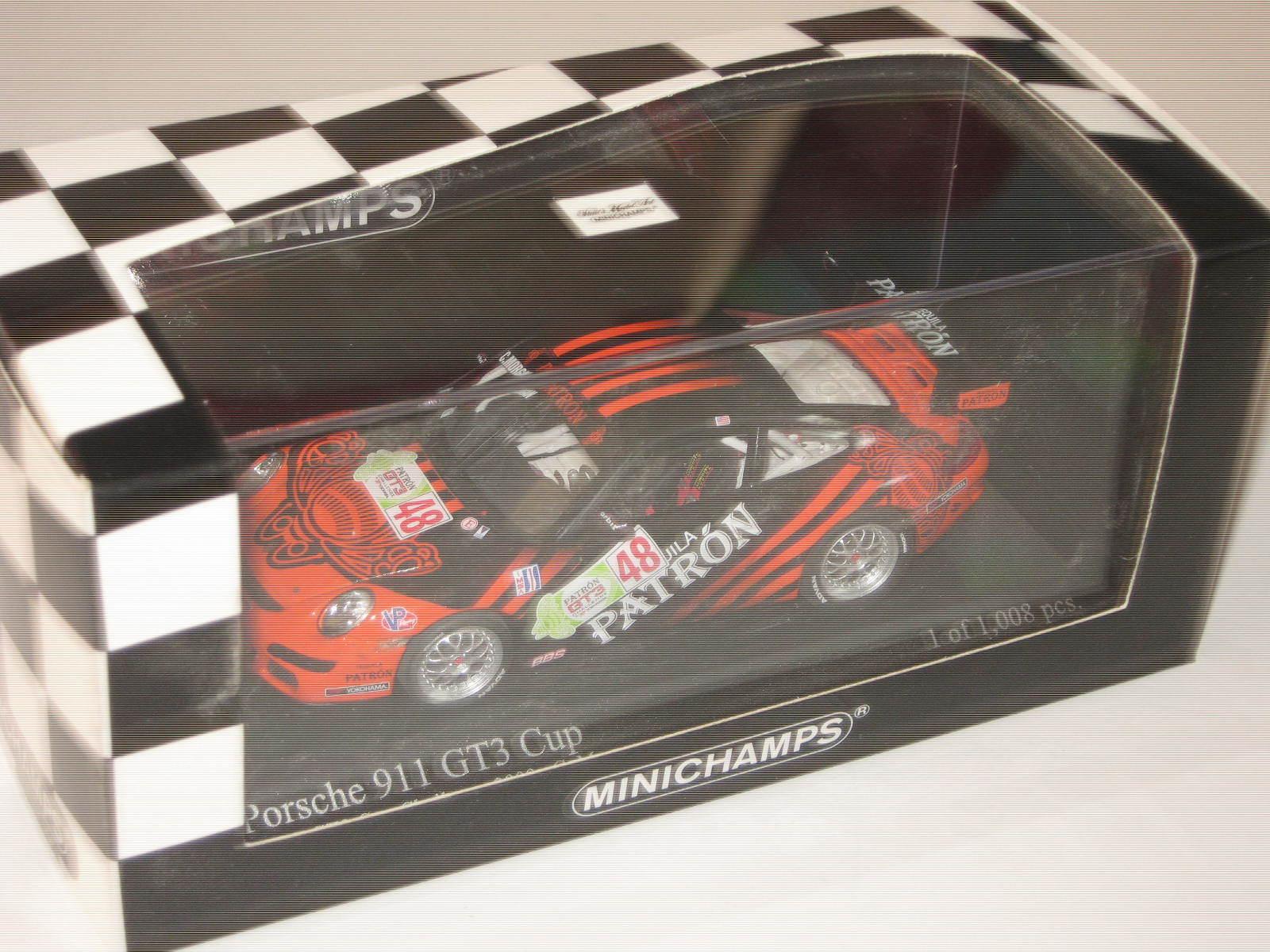 1 43 Porsche 911 gt3 Cup C. MORGAN IMSA gt3 2009 MINICHAMPS 400096748 neuf dans sa boîte New