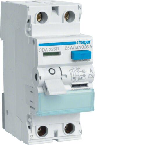 HAGER FI Schalter FI-Schalter CDA225D CD A 225 D 2 polig 0,03 25A TOP ANGEBOT | Genial Und Praktisch