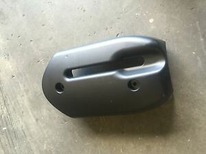 BMW-M3-E46-Black-Steering-Wheel-Column-Cover-Trim-and-Metal-Bracket-OEM-01-06