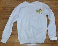 Pokemon Character Sweatshirt Juniors Officially Licensed Nintendo Ash Gray Top