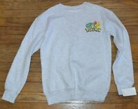 Pokemon Character Sweatshirt Juniors Officially Licensed Nintendo Ash Gray Top