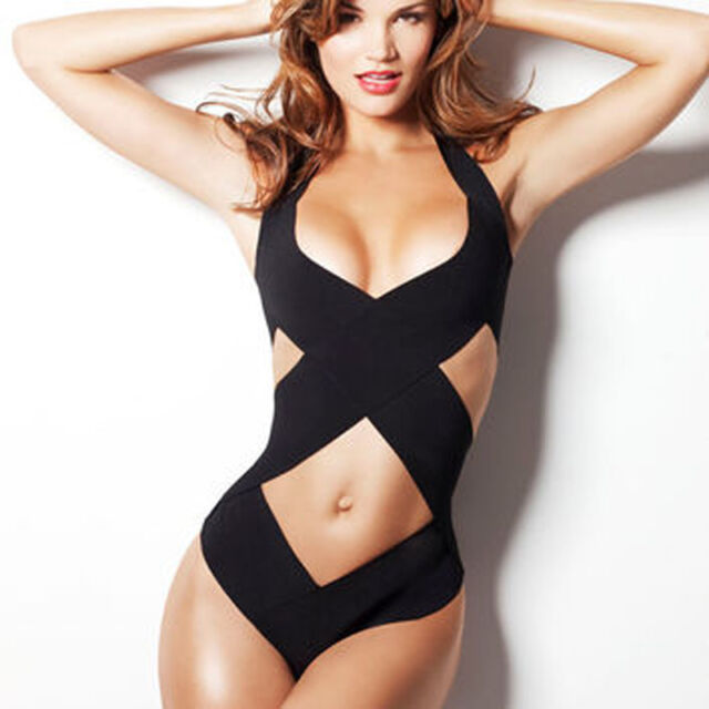 Women's One Piece Swimsuit Swimwear Bathing Monokini Push Up Padded Bikini SML
