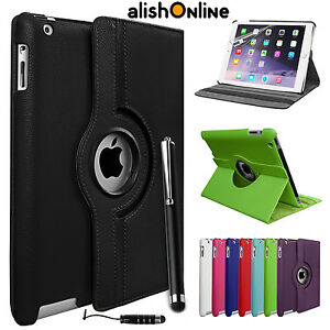 Nouveau-360-Rotating-Coque-Support-En-Cuir-pour-Apple-iPad-4-3-2-Mini-Air-5-6