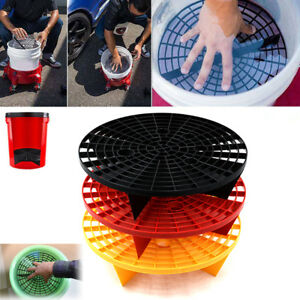 Cleaning Kits 23.5/26cm PP Car Wash Grit Guard Insert Washboard Water Bucket Filter Scratch Dirt Cars auto cleaning Yellow/Red