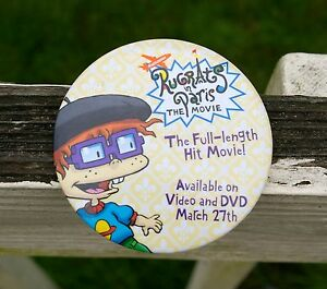 Nickelodeon-Rugrats-in-Paris-The-Movie-Round-Metal-3-034-Pinback-Button-2000