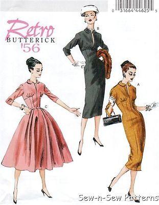 Butterick B5813 SEWING PATTERN 6-14 Retro/Vintage Dress Pencil/Rockabilly 1950s