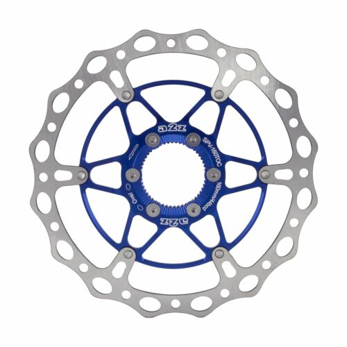 A2Z Floating Disc Brake Rotor 160mm Center Lock Bicycle Brake Disc Blue