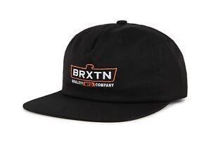 NWT-Brixton-Mens-Cruss-Snapback-Cap-HAT-OSFM-Men-039-s-Adjustable-BLK-BX101