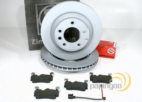 VW Passat Zimmermann Bremsklötze Bremsbeläge Bremsen Warnkabel für vorne 3B