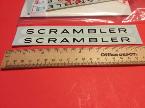 2 Authentic NOS  Schwinn Scrambler decals 03164 bx11