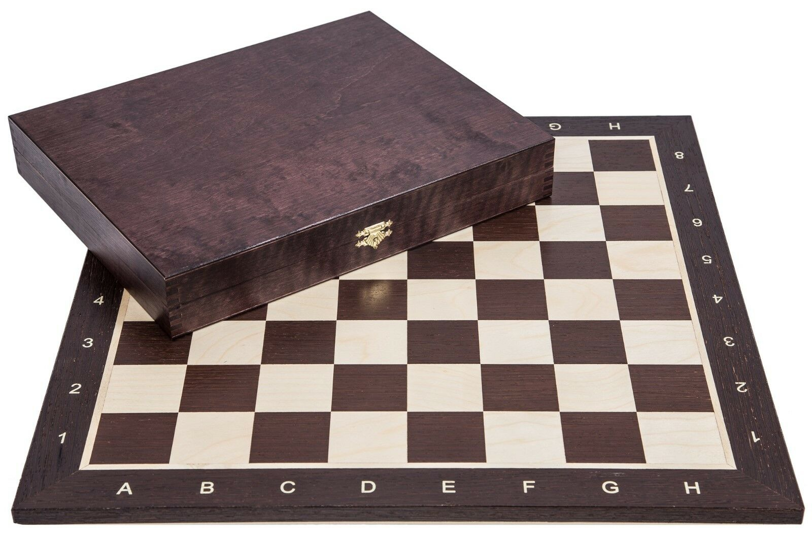 SQUARE - Pro Wooden Chess Set No. 5 - WENGE LUX - Chessboard & Chess Pieces