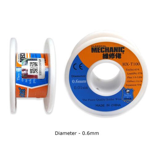 Mechanic Tin Soldering Wire Lead Solder Melt Rosin Core fr SMD PCB BGA Soldering