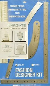 Fairgate Fashion Designer Rule Kit In Inch Including Book A Guide To Pattern 747465169438 Ebay
