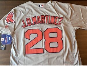 separation shoes a0f99 9c0e0 Details about JD Martinez Boston Red Sox Majestic Jersey Gray Men's  Medium-2XL