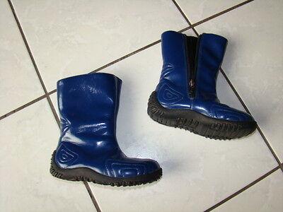 ROMIKA FLASH 106 Schuhe LACK STIEFEL 25 Mädchen BOOTS wie Gummistiefel blau COOL