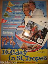 Holiday in St. Tropez -24 AUSHANGFOTOS + Plakat A1- Vivi Bach Margitta Scherr