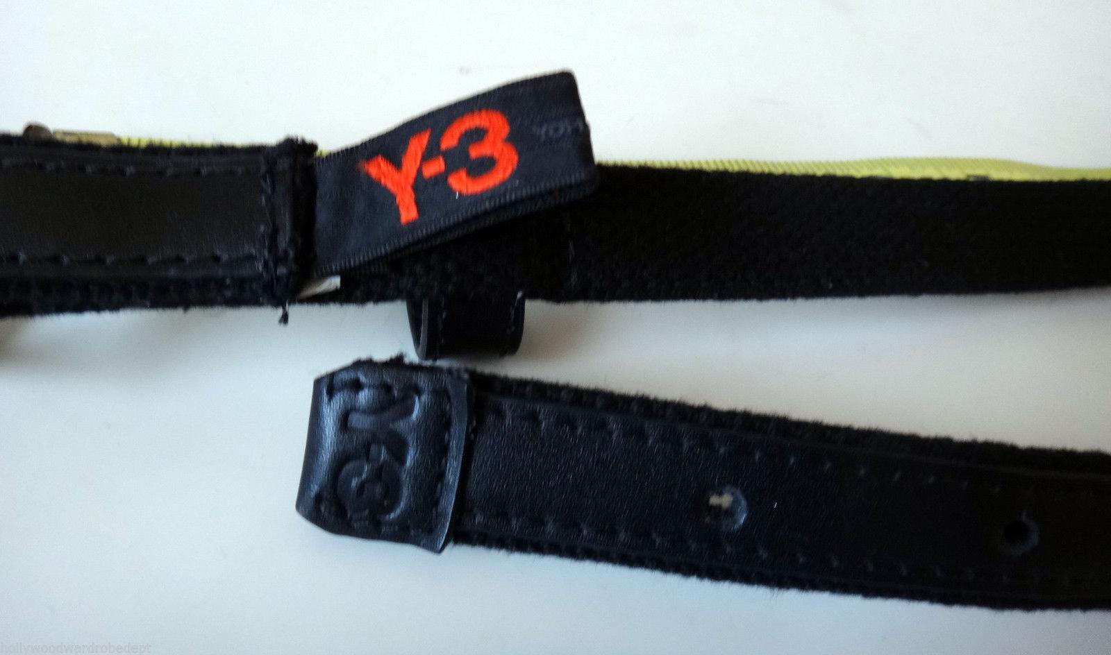 Y-3 Yohji Yamamoto XL ADIDAS skinny belt buckle leather 36 38 40 y3 nero vtg
