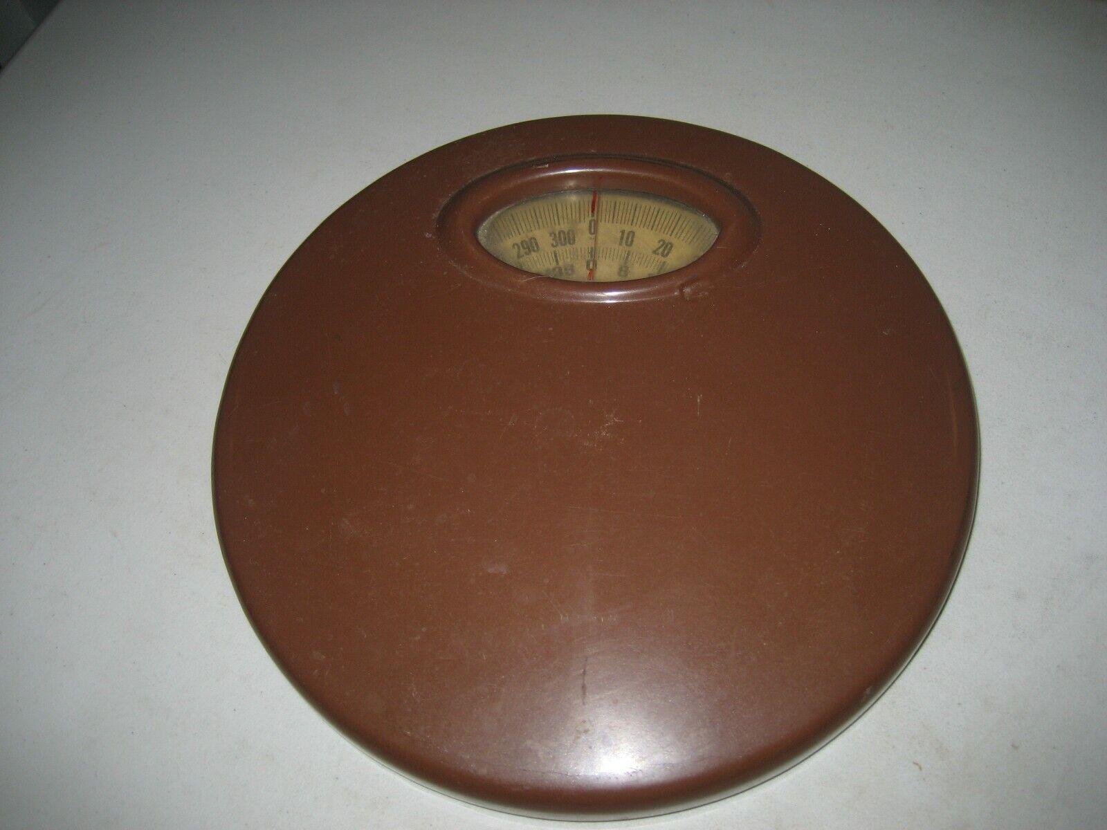 Vintage Sears Brown Metal Bathroom Scale 1960s Rare