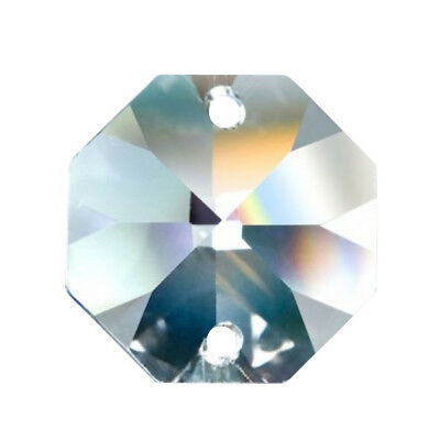 50 AB Iridescent 14mm Plum Blossom Flower Chandelier Crystals 2 Hole Beads