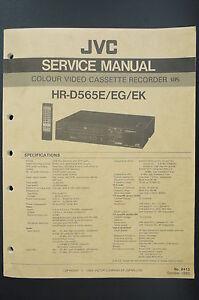 jvc colour video cassette recorder hr d5656e eg ek service manual rh ebay com