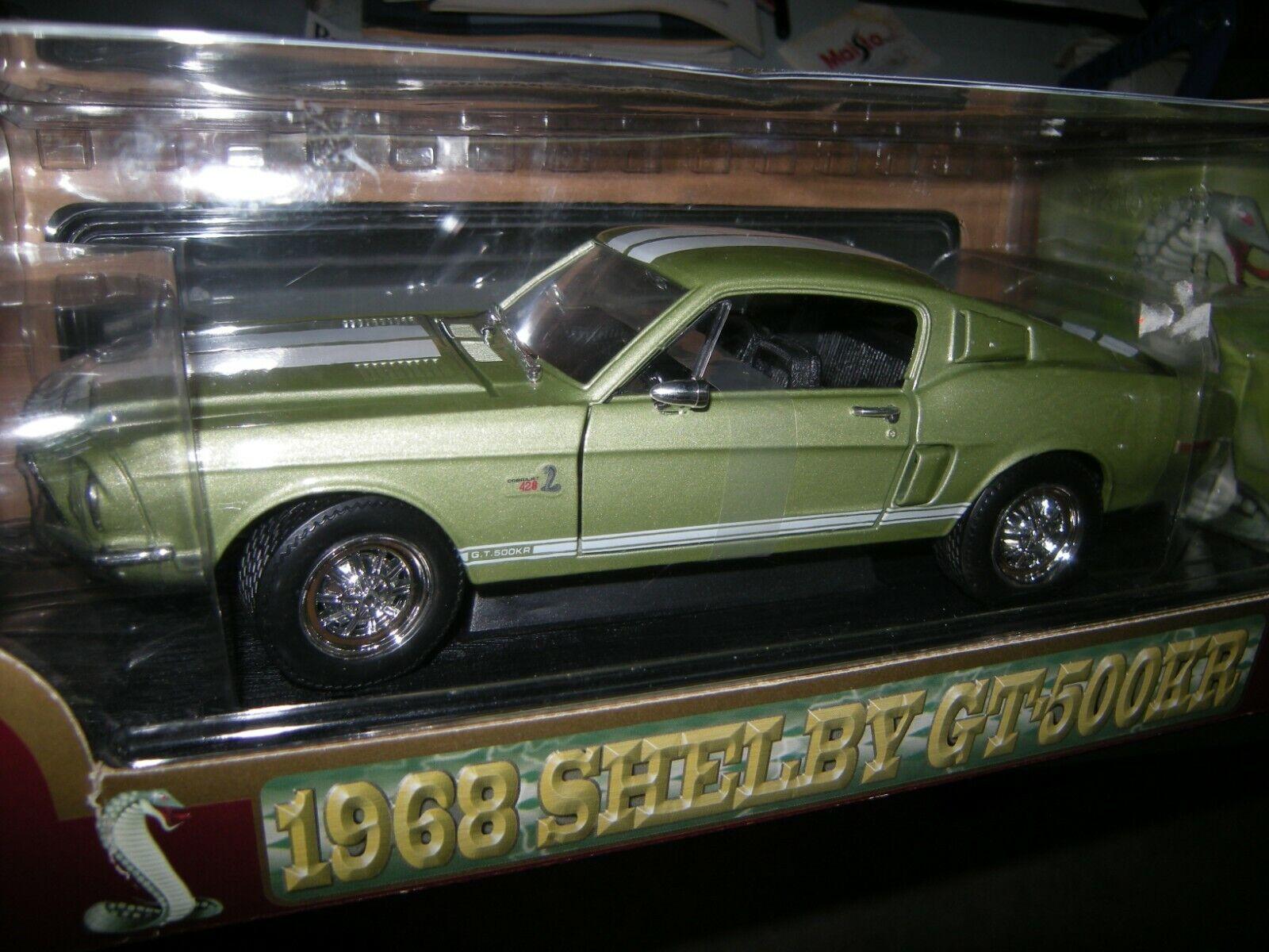 1 18 Yat Ming Shelby GT 500kr 1968 vert Vert dans neuf dans sa boîte
