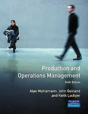 "1 of 1 - ""VERY GOOD"" Production and Operations Management, Muhlemann, A. P., Book"