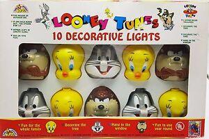 Looney-Tunes-10-Light-Set-Bugs-Bunny-Tweety-Taz-Indoor-Outdoor-New-Vintage