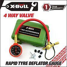 X-BULL E-Z Automatic Adjustable Tire Air Pressure Gauge Deflators Box Kit