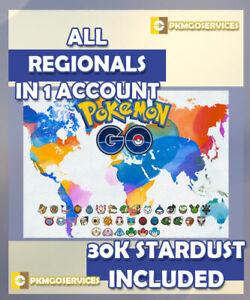 POKEMON GO - Regional - ALL REGIONALS IN 1 ACC + DUPLICATES