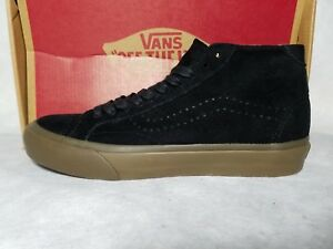 7d4f1d93b9ea3a New Vans Court Mid DX Tanner Suede Leather Black Brown Gum Skate ...