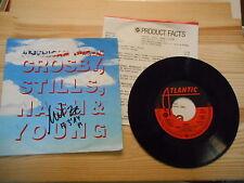 "7"" Pop Crosby Stills, Nash & Young - American Dream ATLANTIC Presskit"
