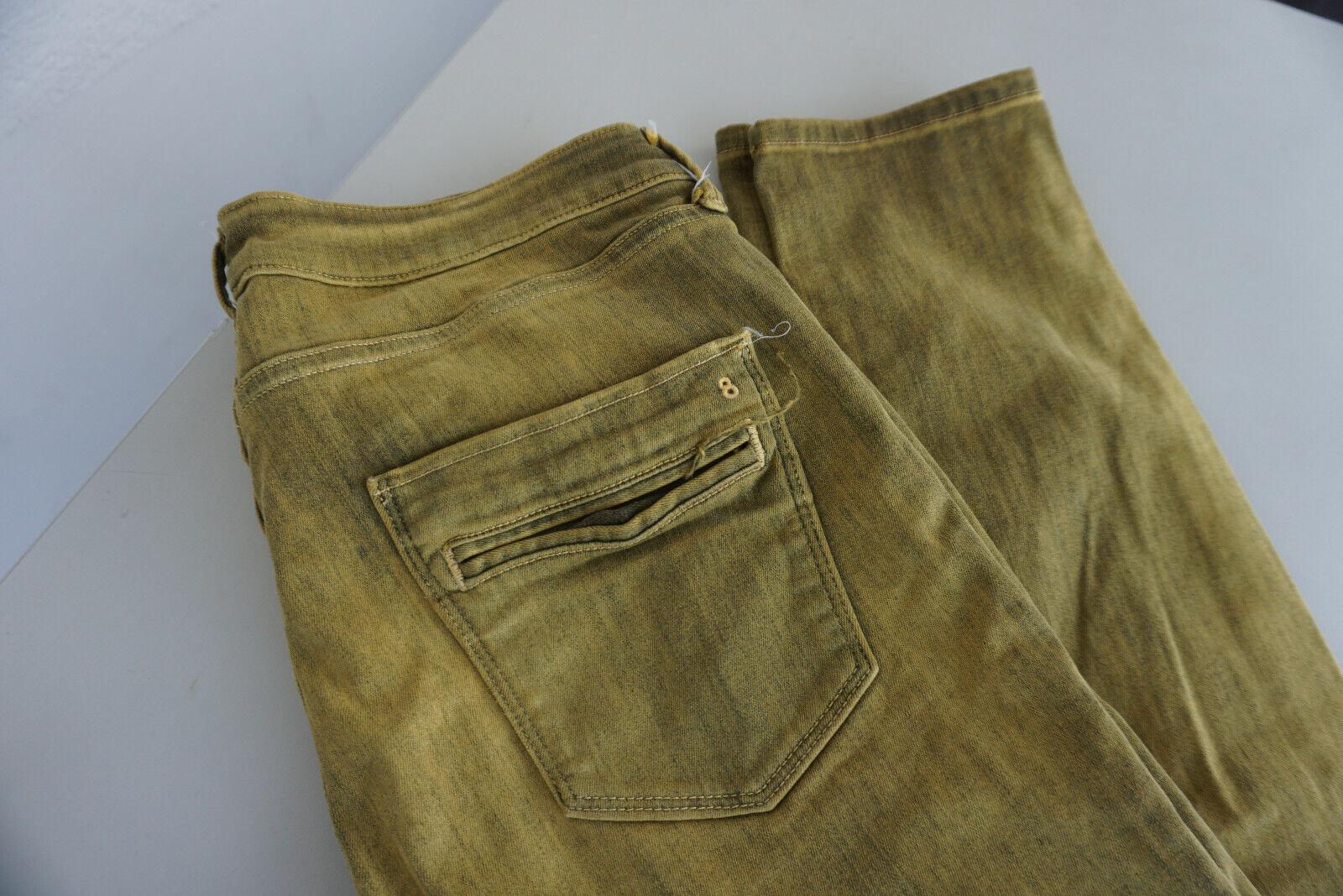 Twenty8twelve Wendy Jeans Stretch Pantalon Slim Skinny 32 32 W32 L32 Vert-Jaune