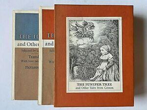 1st-1973-Maurice-Sendak-The-Juniper-Tree-Tales-from-Grimm-2-Vol-Slipcase-FINE