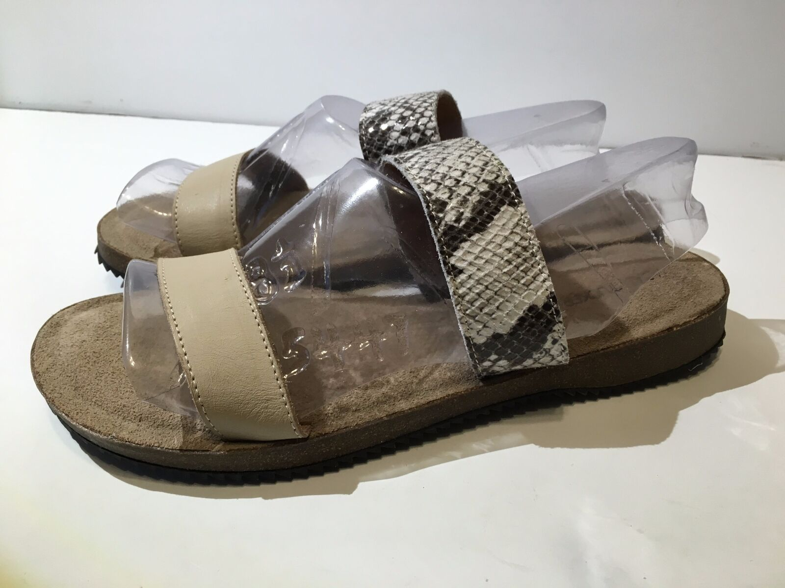 Adam Tucker Autumn 10 Tan Snake Leather Sandal (974) Size 9.5