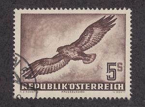 Austria-Sc-C58-used-1953-5s-red-brown-Bird-VF