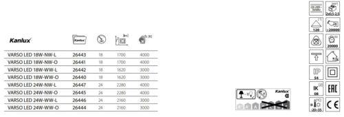 KANLUX LED 18W Rund Schott Mikrowelle Sensor 2D Fassung IP54 3000K Warmes Weiß