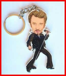 JOHNNY-HALLYDAY-PORTE-CLE-7-cm-Portrait-Collection-Rock-n-039-roll-Francais-croix