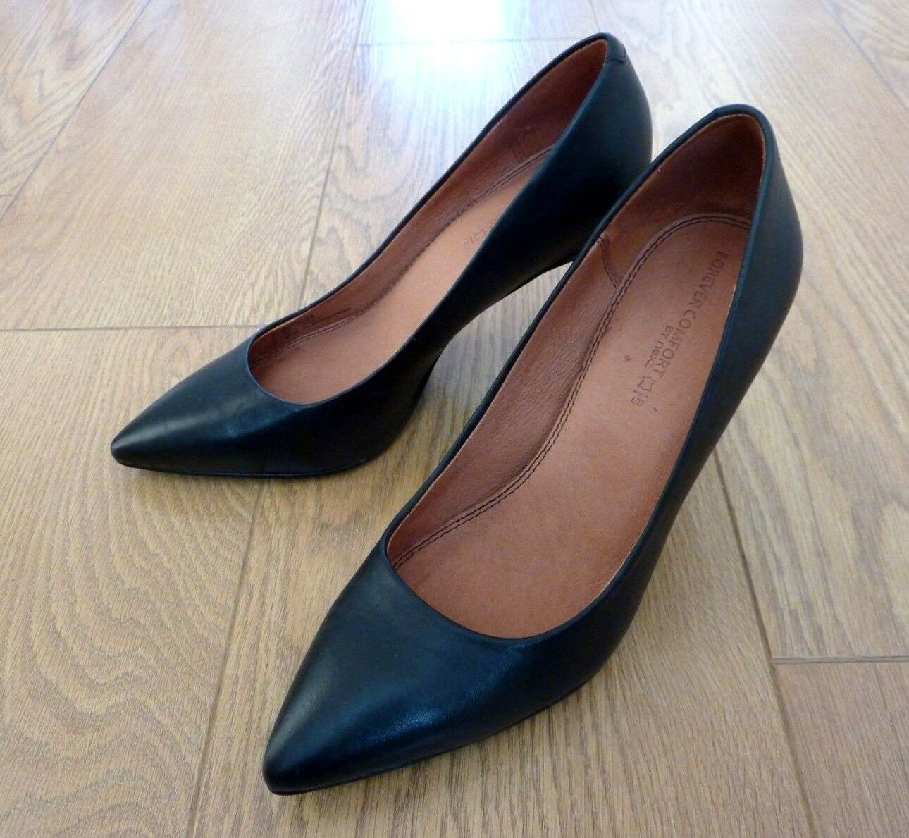 check out bf0c3 9bd01 Next Forever Comfort Ladies Court Heel Black Leather shoes Size UK 4 EU 37  nofapq7111-Women s Heels