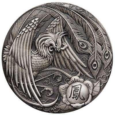 2018 Qi Lin Unicorn 2oz Silver Antiqued High Relief Coin