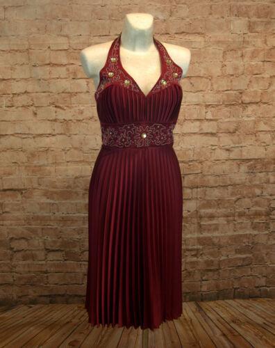 Abendkleid kurz Coctailkleid Plisseekleid Minikleid Kleid Neckholder neu