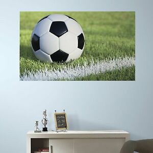 Image Is Loading Soccer Mural Wall Decals Field Ball Room