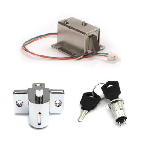 Aluminum Catch Push Lock S1203 Electric Solenoid Lock Assembly DC 12V 350mA BBC
