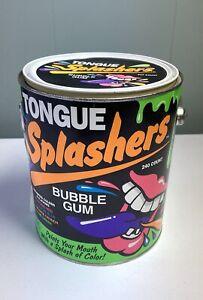 Vintage Tongue Splashers Bubble Gum Empty Tin Paint Can 1990s