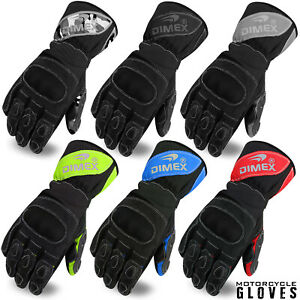 Dimex-Motorcycle-Leather-Motorbike-Gloves-Biker-Windproof-Knuckle-Protection