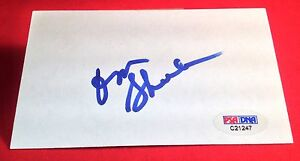 Don Shula signed Index Card PSA/DNA #C21247