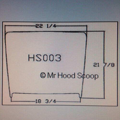 1994-2013 Hood Scoop For Chevy Impala by MrHoodScoop PAINTED HS003