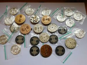 VINTAGE-BREITLING-CALIBER-CHONOGRAPH-WRISTWATCH-MOVEMENT-amp-OTHERS-amp-DIALS